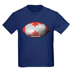 Canadian Football Youth Dark T-Shirt by Hanes