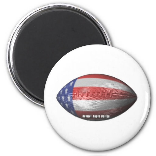 American Football 2 Inch Round Magnet