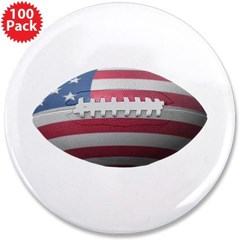 "American Football 3.5"" Button (100 pack)"