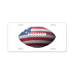 American Football Aluminum License Plate