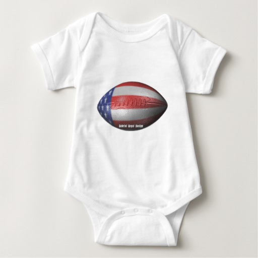 American Football Baby Jersey Bodysuit