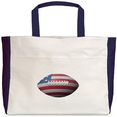 American Football Beach Tote Bag