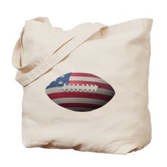 American Football Canvas Tote Bag
