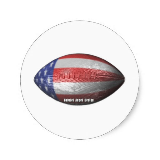 American Football Classic Round Sticker