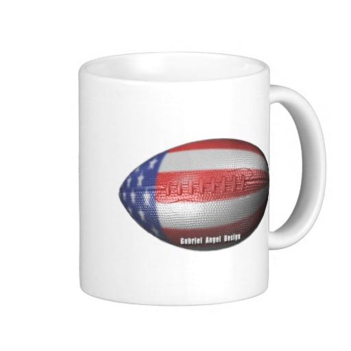 American Football Classic White Mug
