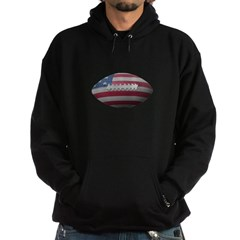 American Football Dark Hooded Sweatshirt