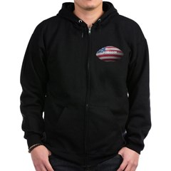American Football Dark Zip Hoodie