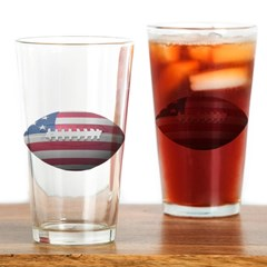 American Football Drinking Glass