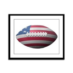 American Football Framed Panel Print