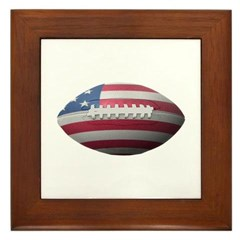 American Football Framed Tile