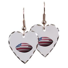 American Football Heart Earrings