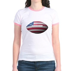 American Football Junior Ringer T-Shirt