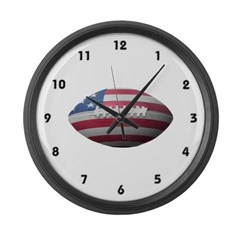 American Football Large Wall Clock