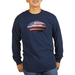 American Football Long Sleeve Dark T-Shirt