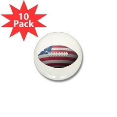 American Football Mini Button (10 pack)