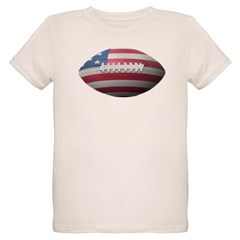American Football Organic Kids T-Shirt