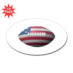 American Football Oval Decal 10 Pack