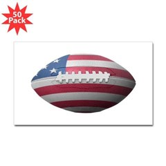 American Football Rectangle Decal 50 Pack