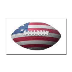 American Football Rectangle Decal