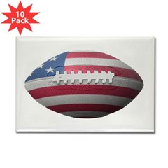 American Football Rectangle Magnet (10 pack)