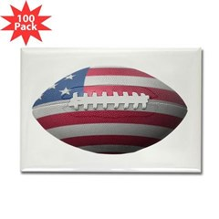 American Football Rectangle Magnet (100 pack)
