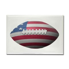 American Football Rectangle Magnet