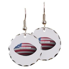 American Football Round Earrings