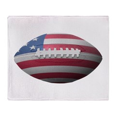 American Football Throw Blanket