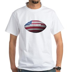 American Football White T-Shirt
