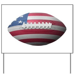 American Football Yard Sign