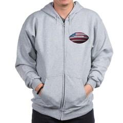 American Football Zip Hoodie