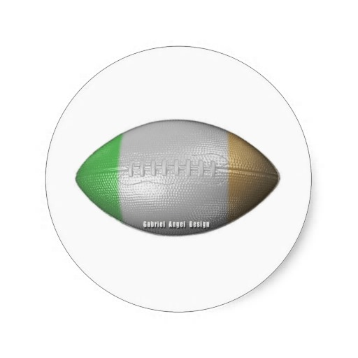 Irish Football Classic Round Sticker