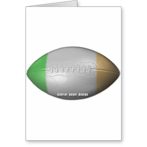 Irish Football Greeting Card