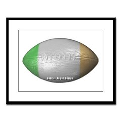 Irish Football Large Framed Print