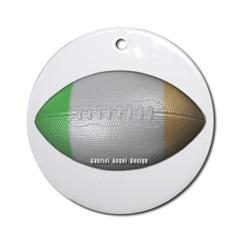 Irish Football Ornament (Round)