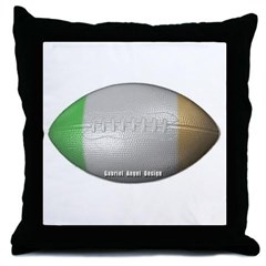 Irish Football Throw Pillow