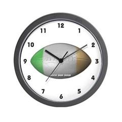 Irish Football Wall Clock