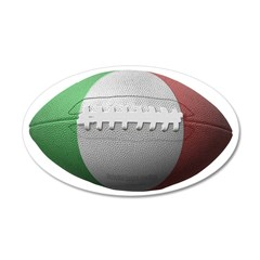Italian Football 22x14 Oval Wall Peel