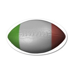 Italian Football 38.5 x 24.5 Oval Wall Peel
