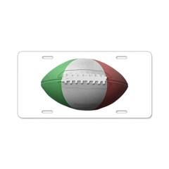 Italian Football Aluminum License Plate