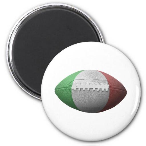 Italian Football Flag 2 Inch Round Magnet