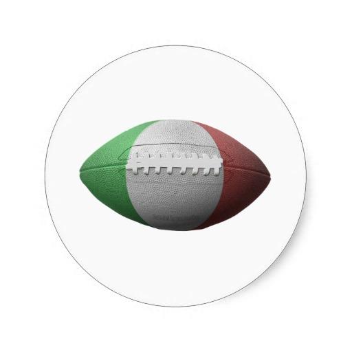 Italian Football Flag Classic Round Sticker