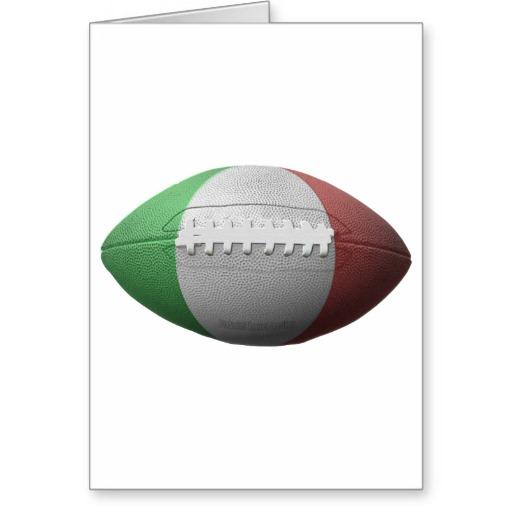 Italian Football Flag Greeting Card