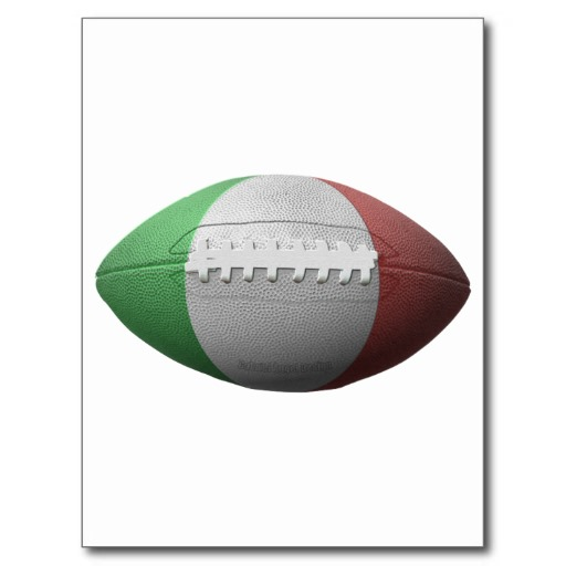Italian Football Flag Postcard