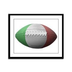 Italian Football Framed Panel Print