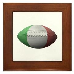Italian Football Framed Tile