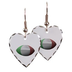 Italian Football Heart Earrings