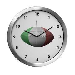 Italian Football Modern Wall Clock