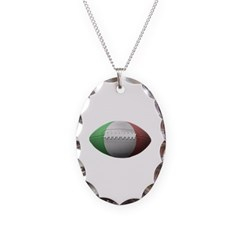 Italian Football Necklace with Oval Pendant