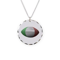 Italian Football Necklace with Round Pendant